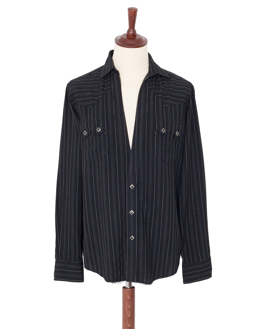 The Letters Western Cutting Shirt, Rayon Stripe
