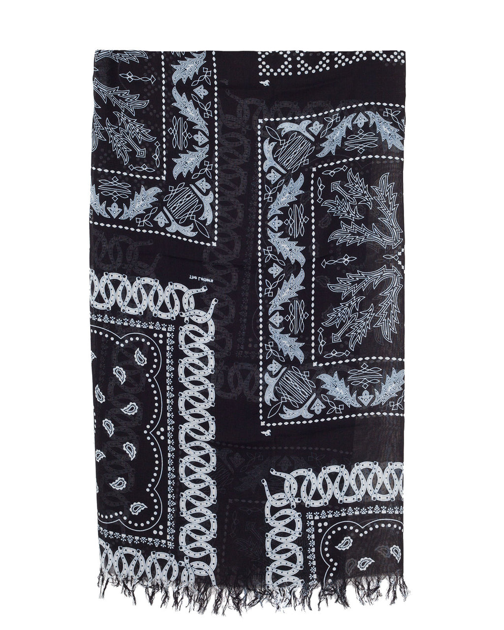 The Letters Western Bandanna Stole, Black
