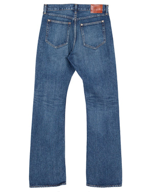 The Letters 5 Pocket Boot Cut Pants, Used Washed Denim, Indigo