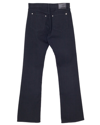 The Letters 5 Pocket Boot Cut Pants, Washed Denim, Black