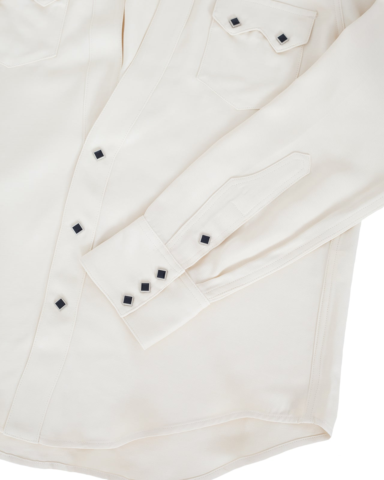 The Letters Western Cutting Shirt, Rayon Twill