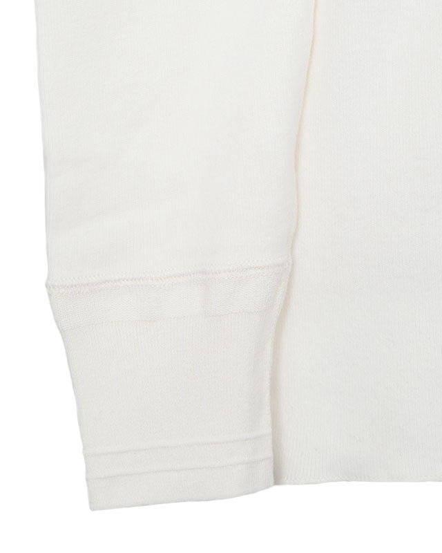 Glad Hand Thick Henley Long Sleeve, White
