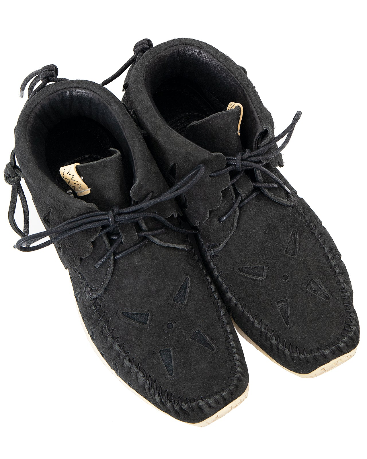 Visvim FBT Bearfoot Perf-Folk, Black