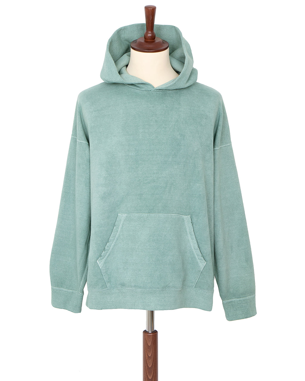 Visvim Jumbo Hoodie P.O. Uneven Dye, Light Green