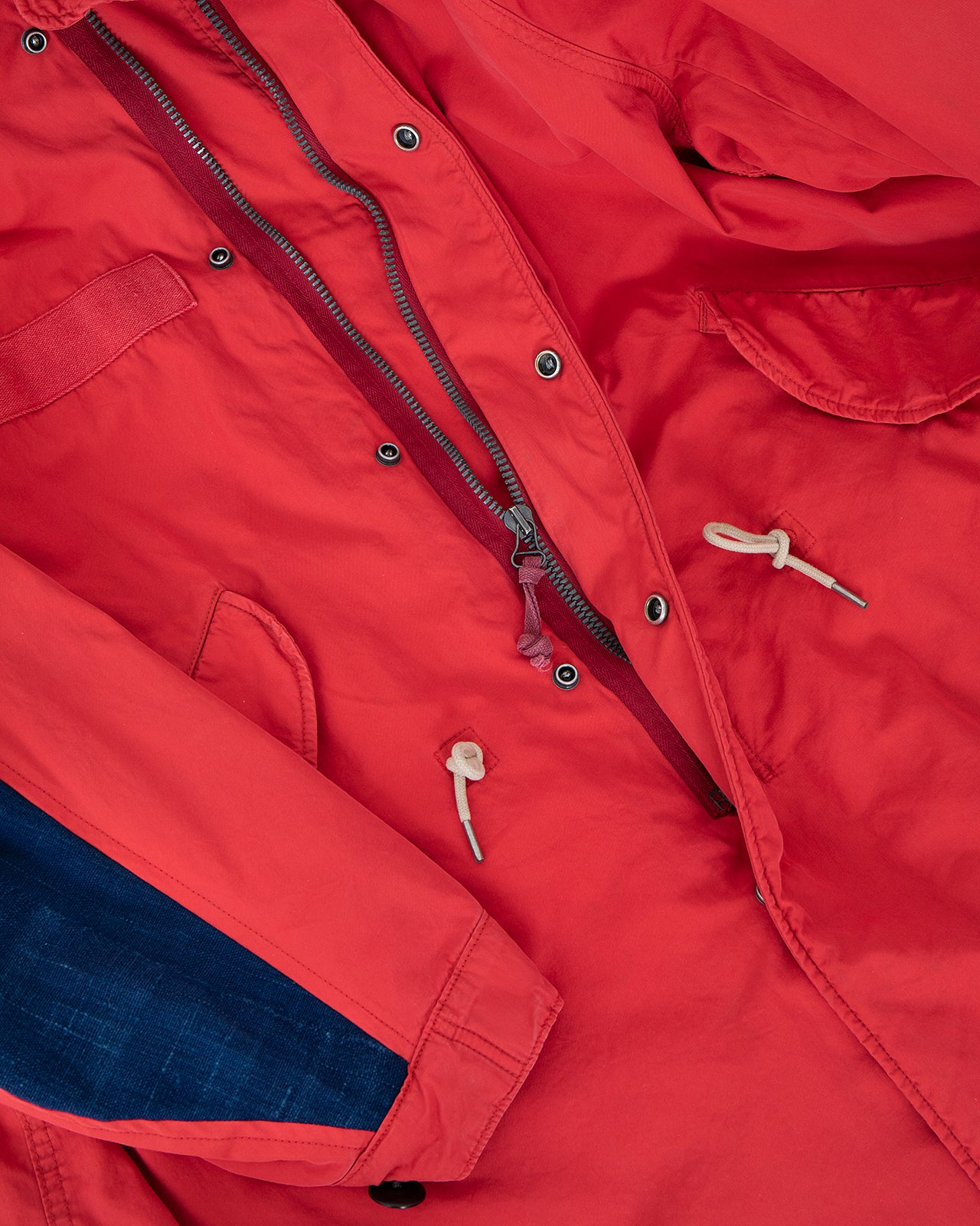 Visvim Six-Five Fishtail Parka, Red