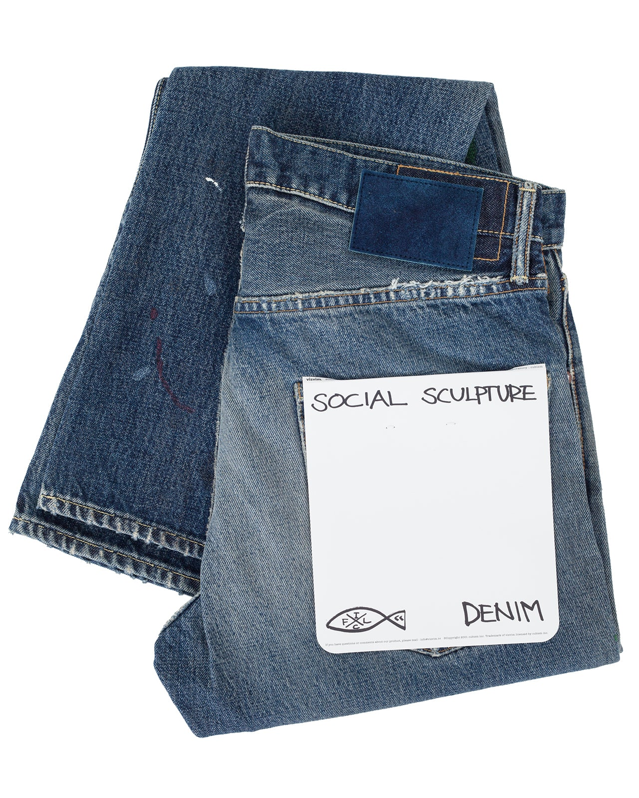 Visvim Social Sculpture 01 Slim, Damage 17