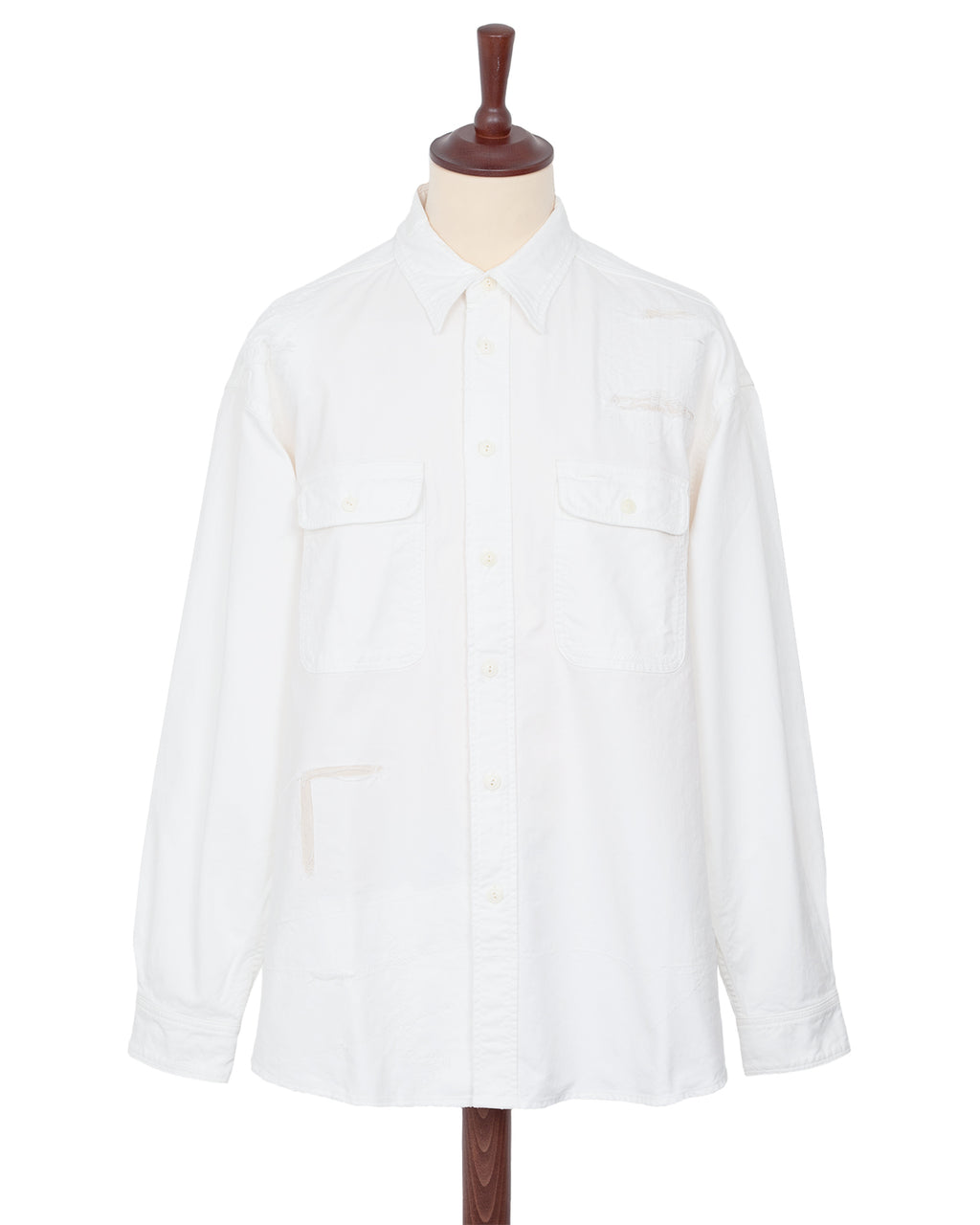 Visvim Grand River Shirt, Crash White