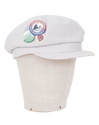 Visvim Workhorse Cap (Badges), Ivory