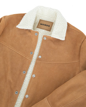Weirdo Hey Kids Ranch Jacket, Beige Suede
