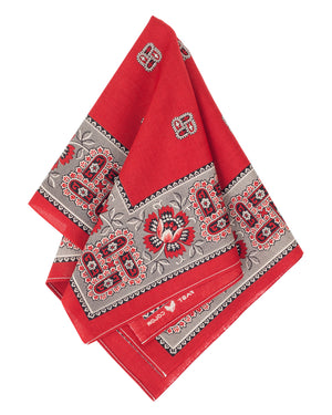 The Two Ears Brand Liberty Bandanna, Turkey Red