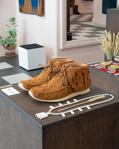 Visvim FBT Bearfoot Perf-Folk, Light Brown