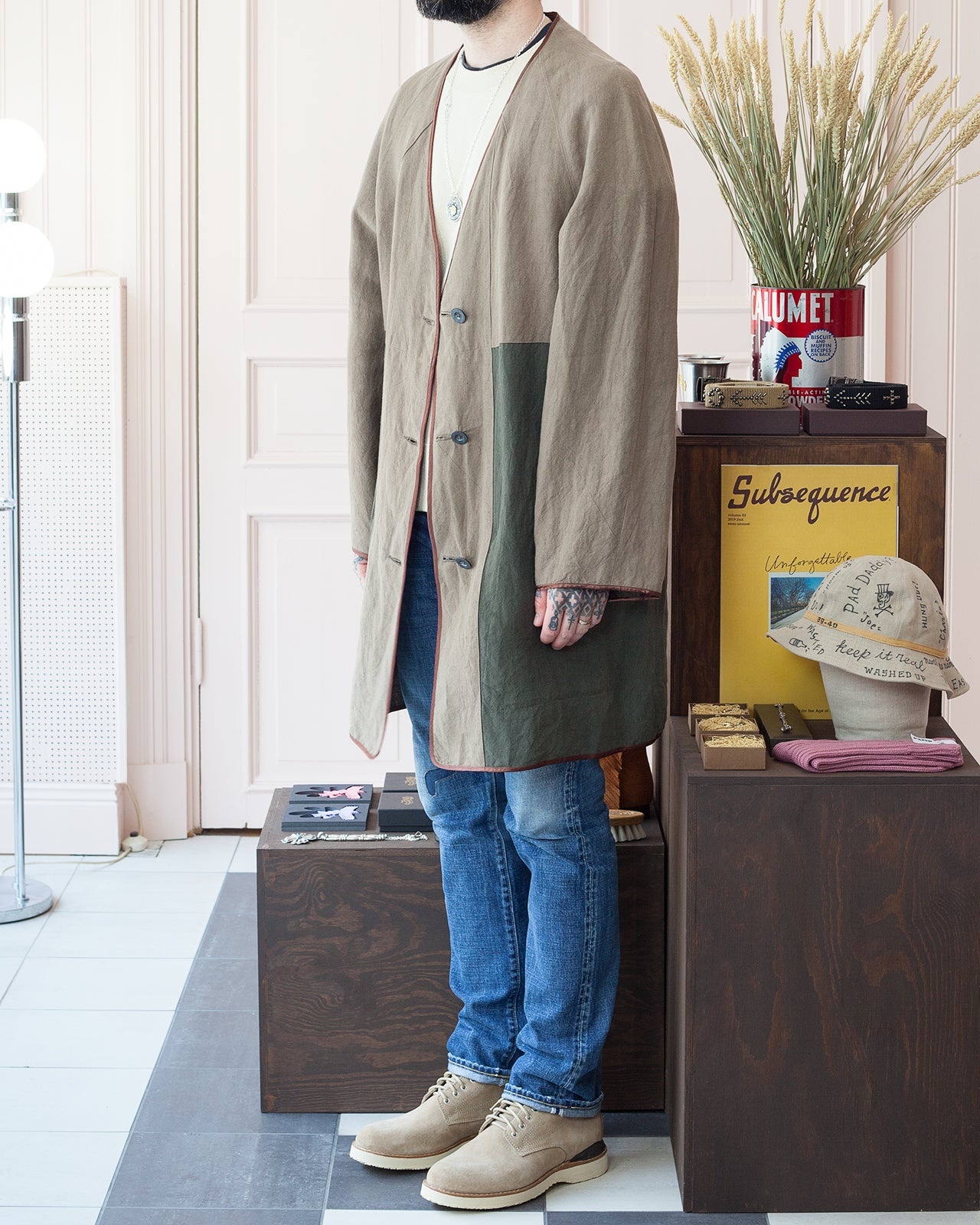 Beaugan Smoking Jacket, Reversible, Visvim Virgil Boots