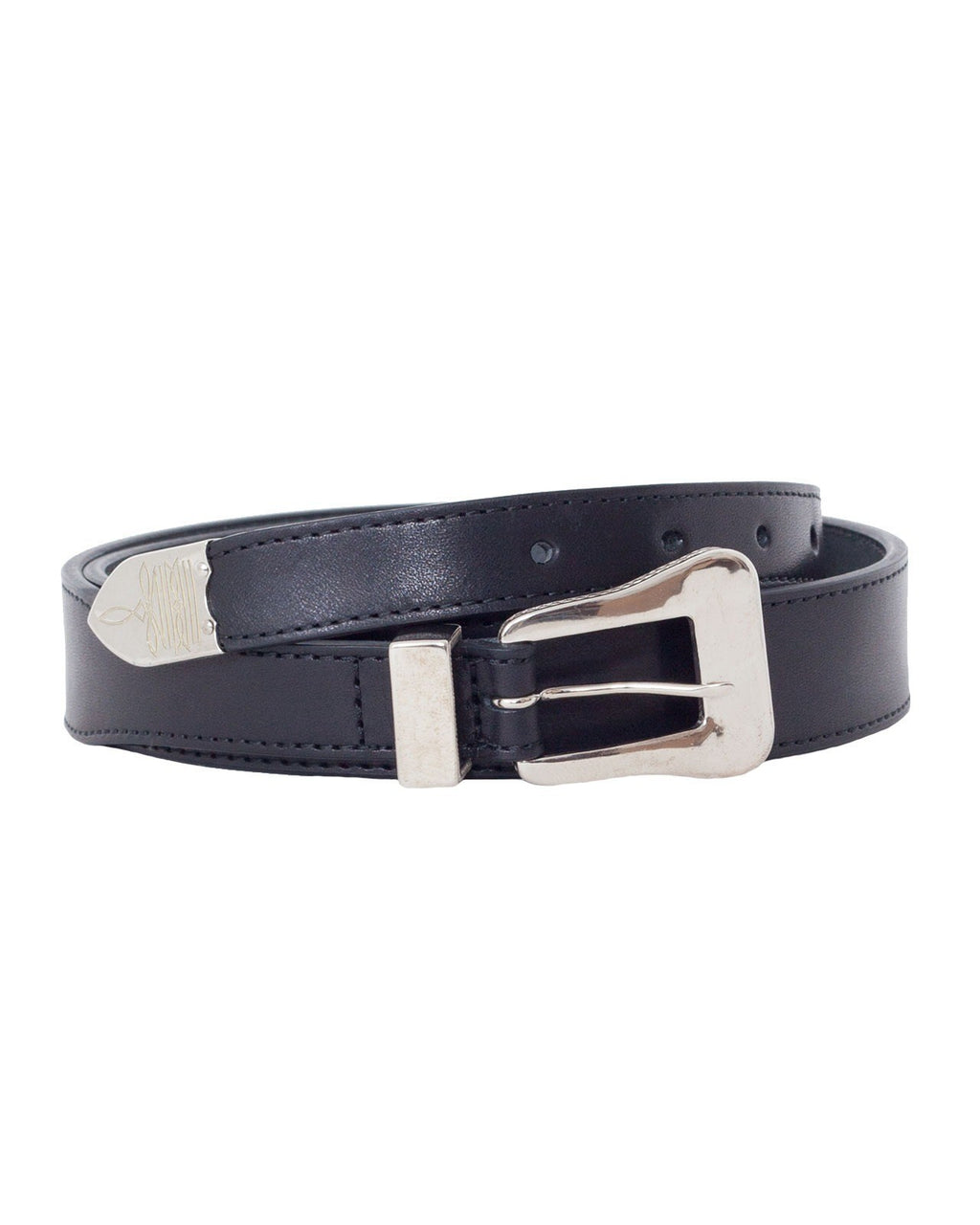The Letters Twisted Western 3 Piece Belt, Black