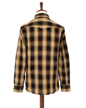 Indigofera Dollard Shirt, Heavy Check, Black / Gold
