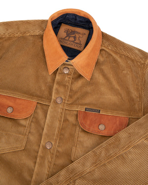 Indigofera Eagle Rising Jacket, Corduroy / Leather