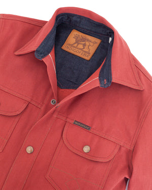 Indigofera Eagle Rising Shirt, Red Selvage