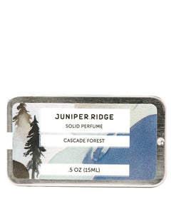 Juniper Ridge Solid Perfume, Cascade Forest