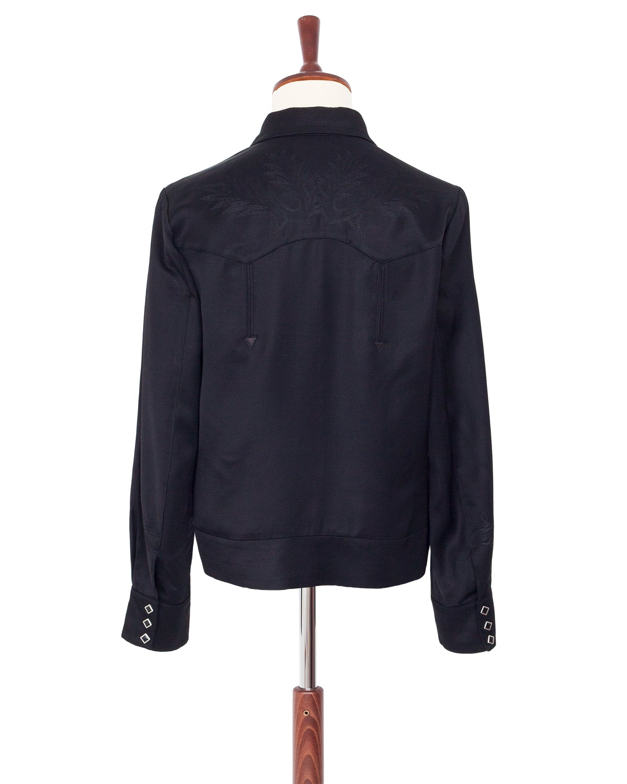 The Letters Bolero Jacket, Rayon Twill, Black