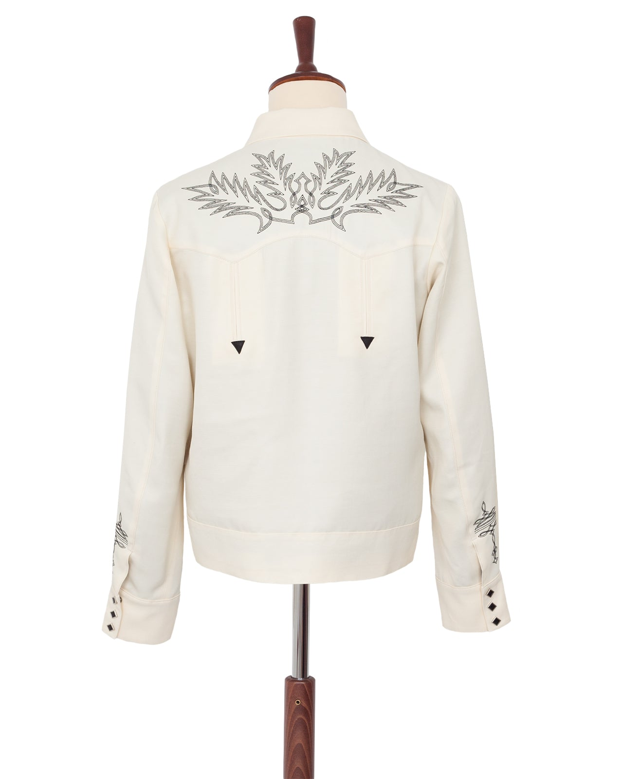 The Letters Bolero Jacket, Rayon Twill, White