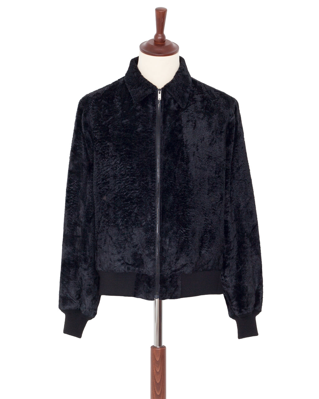 The Letters Zip Rib Blouson, Fake Fur