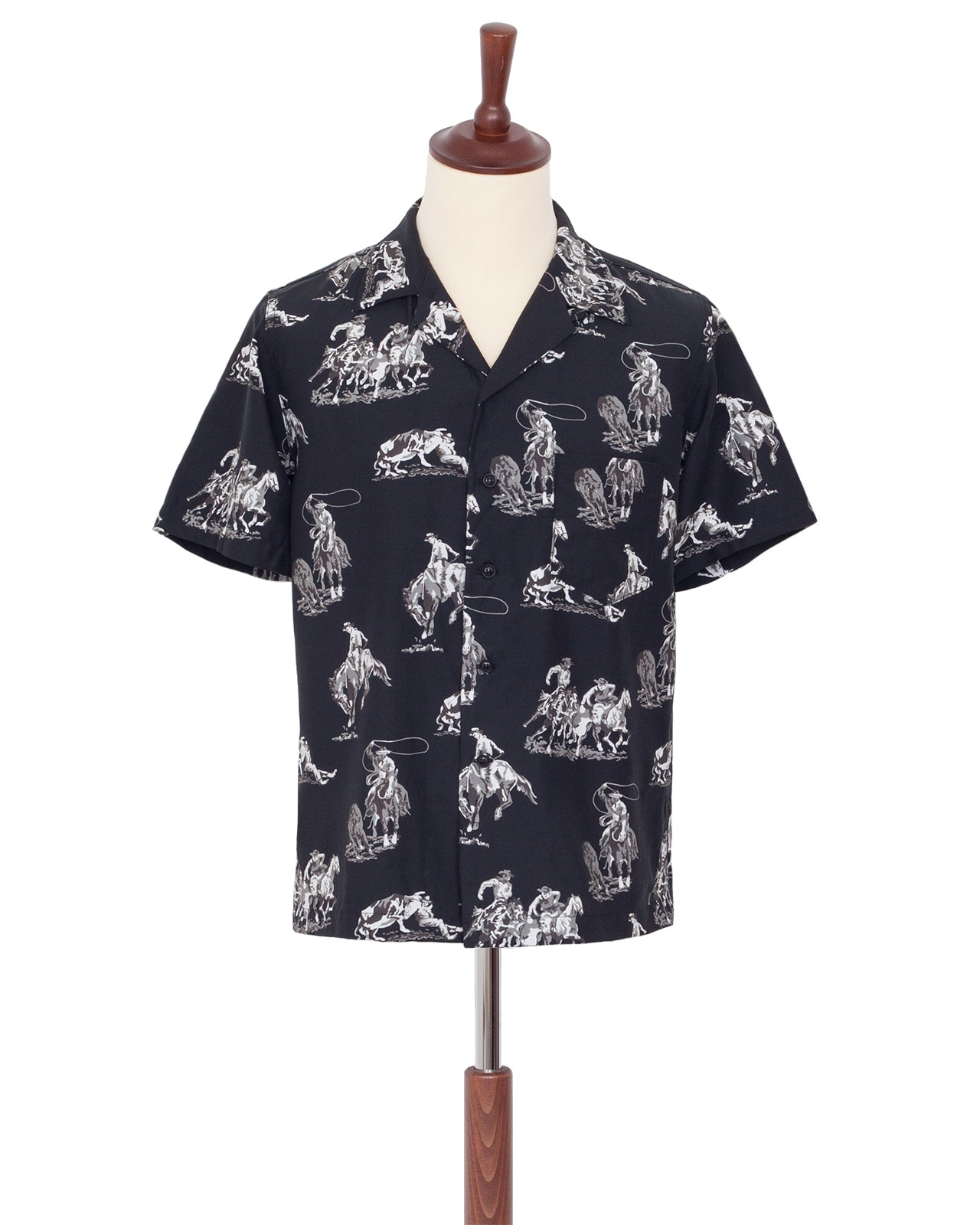 The Letters Open Collar Shirt, Cowboys