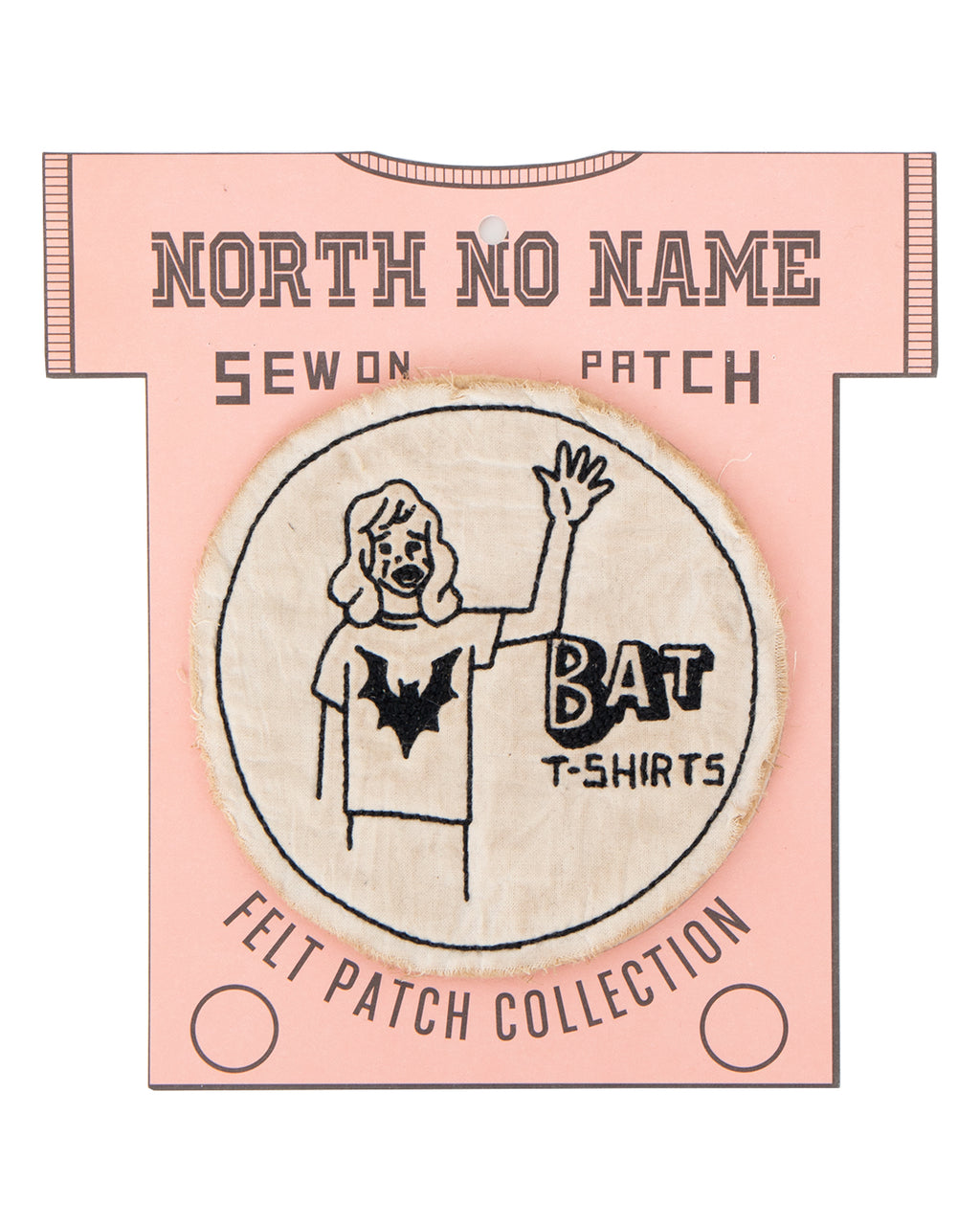 North No Name, Felt Patch, Bat T-Shirts