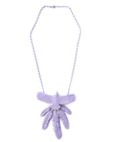 Kapital Tin Lacquer Eagle Necklace, Purple