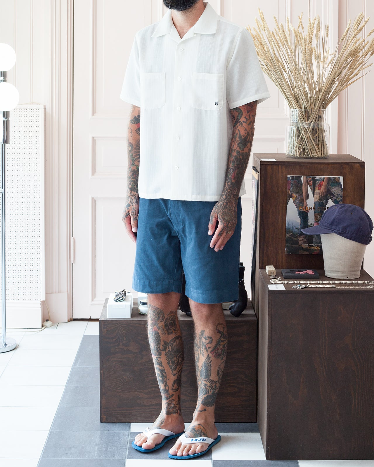 By Glad Hand, Gladden Corduroy Shorts, Blue