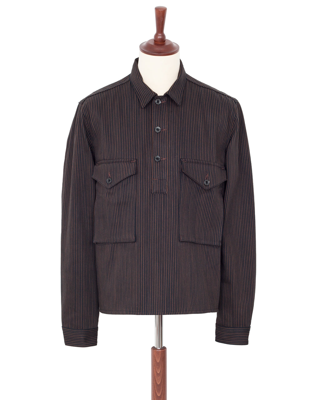 Indigofera Terrence Jacket, Black/Brown Hickory Stripe