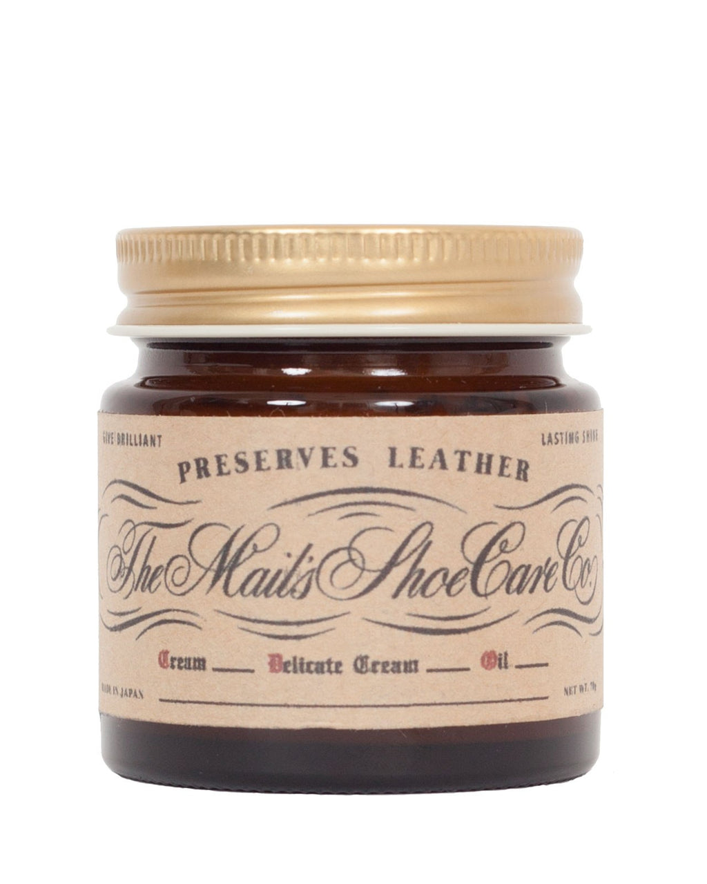 The Mail's Shoe Care Co, Natural Shoe Cream