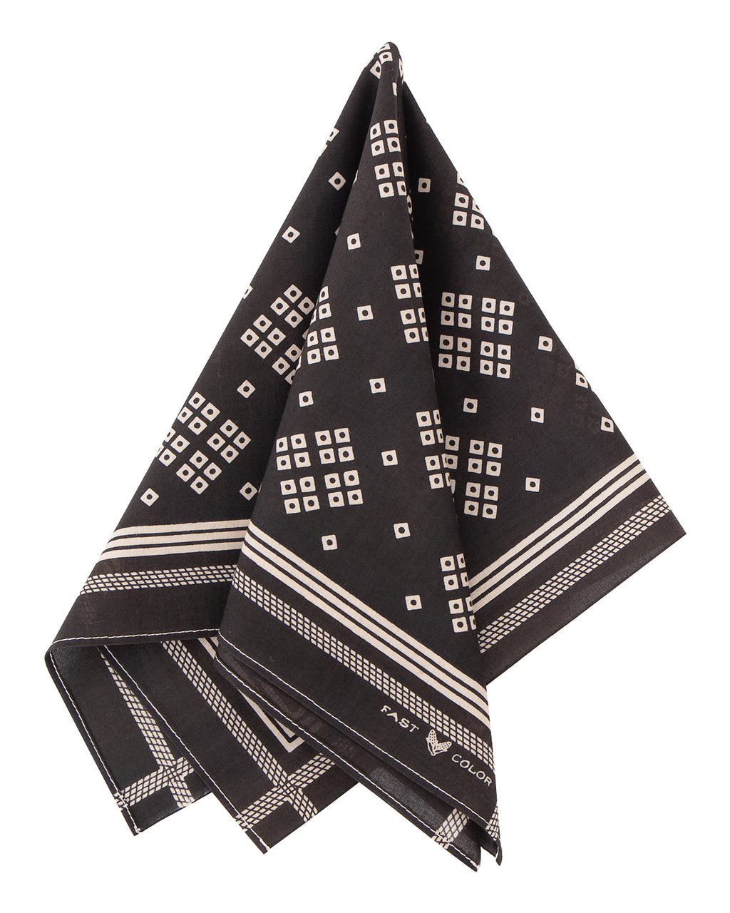 The Two Ears Brand Liberty Bandanna, Iridium Black
