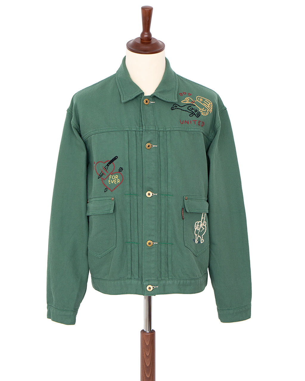 Weirdo Peace Love Jacket, Green