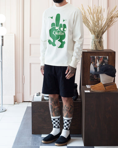 Weirdo Long Sleeve, Fuck U, White x Green