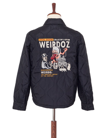 Weirdo Quilting Jacket, Weirdoz, Black
