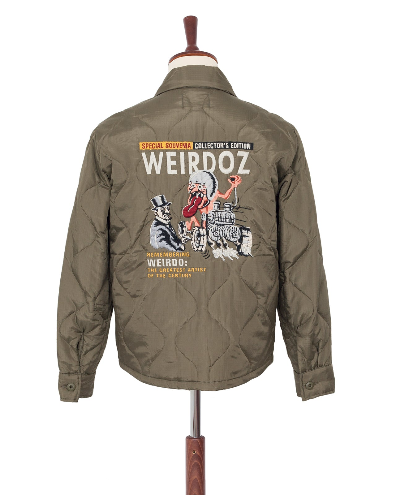 Weirdo Quilting Jacket, Weirdoz, Khaki