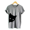 Cat Looking Out Side Funny T-Shirt Women's