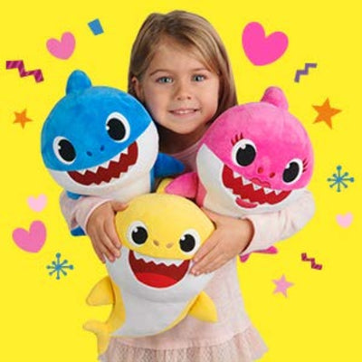 Soft Dolls Baby Cartoon Shark Toys With Music Cute Animal Plush Baby Toy Shark Dolls Singing English Song For Gift Children Girl