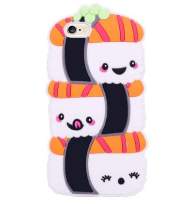 Soft Silicone Cover for iphone XS X 6 6s 7 8 Plus Food Phone Case