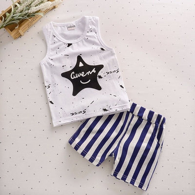 Summer Baby Boys Clothes Kids Short Sleeve T-Shirts+Children Shorts
