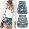 Skirt Summer Fashion High Waist Floral Printed Short A-Line Skirt