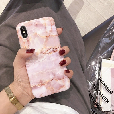 Vintage Marble Case For iPhone X XR XS Max 7 8 Plus Soft TPU Silicone Cover Cases For iPhone 8 7 6 6S Plus Back Capa