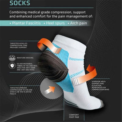 1 Pair High Quality Foot Compression Socks For Plantar Fasciitis Heel Spurs Arch Pain Comfortable Socks Venous Sock