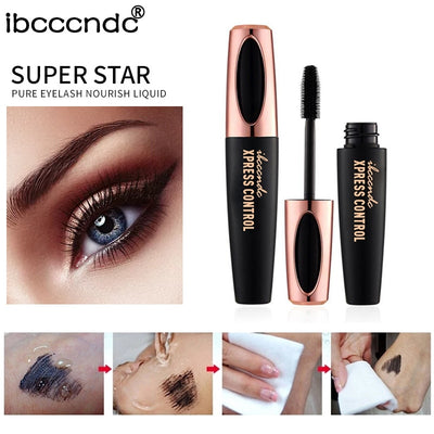 4D Silk Fiber Lash Mascara Waterproof Rimel 3d Mascara For Eyelash Extension Black Thick Lengthening Eye Lashes Cosmetics