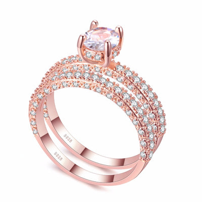 High quality Rose Gold White gold Women ring