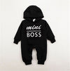 Autumn&Winter baby boy Rompers Cotton Long Sleeve mini boss Hooded kids Jumpsuits onesie