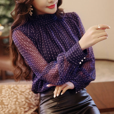 Blouse Women Long Sleeved Shirt