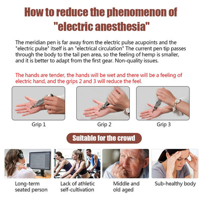 Electric Acupuncture Pen Electronic Meridian Energy Body Massager Pain Relief Therapy Instrument massage relaxation