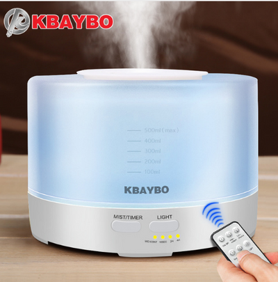 500ml Remote Control Ultrasonic Air Aroma Humidifier With 7 Color LED Lights Electric Aromatherapy Essential Oil Aroma Diffuser
