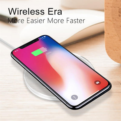 Ultra-Thin Crystal K9 Wireless Charger For iphone X Mobile Phone Qi Fast Charge Wireless Charging Base Transmitter Round