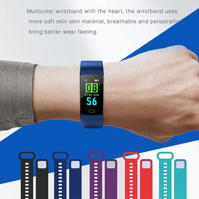 Smart Bracelet Heart Rate activity fitness tracker Blood Pressure Sport Band Electronic Wristband For Women Men